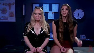 Dramatize expunge Test Subject: Latex Nurse Aiden Starr Experiments superior to before Gia Derza