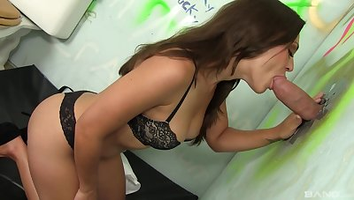 Cock sucking gloryhole pussy fingering amateur XXX