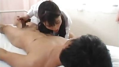 Bosomy sexy Japanese nurses sucking part3