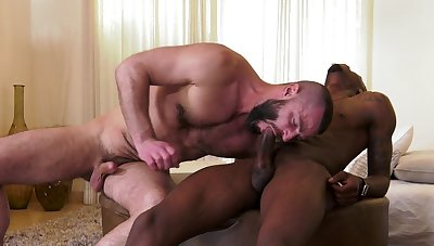 Black thunk ass fucks gay lover in insane scenes
