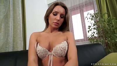 Naughty alone Czech nympho Whitney Conroy has some sex toys for nice solo