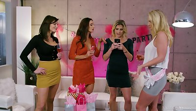 Party babes are keen for their fuck boy to arrive
