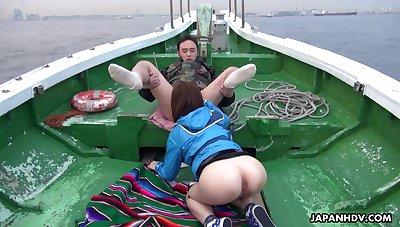 Oriental temptress Sena Sakura enjoying some steamy orgy after gest