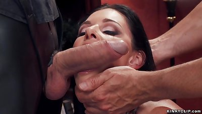 Chesty cougar slave riding big penis