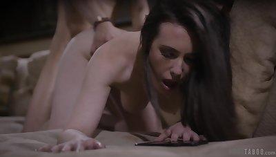 Eye catching babe with sexy ass Casey Calvert dreams of riding vivid cock