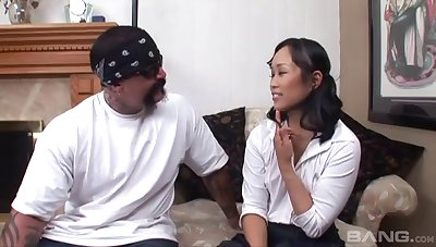 Mediocre shafting between Asian Krystal Kali and a Mexican dude