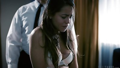 Modest student Alina Lopez is punished by queer old teacher