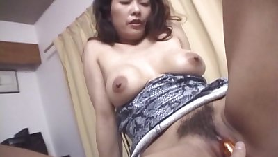 Japanese become man Marie Sugimoto gets their way pussy fucked in missionary