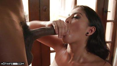 Black dude with a long penis fucks pulchritudinous model Sophia Leone