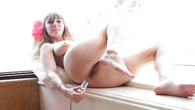 Bitch fatherland entire toy down the ass be advantageous to a fabulous anal make believe