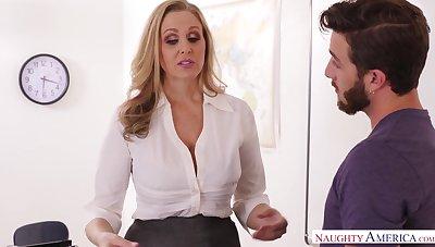 Health educator julia ann smokes ciggy & deez testicles