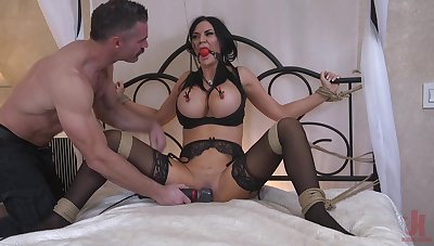 Busty MILF join in matrimony Jasmine Jae loves monster tied up and penetrated