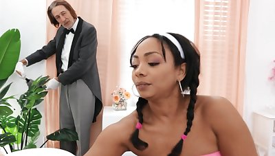 Hardcore interracial fucking with respect to hot botheration ebony cookie Cali Caliente