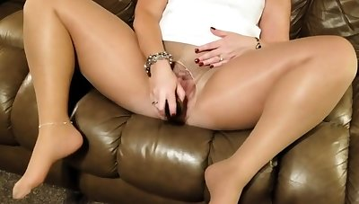 girl dildoing in pantyhose