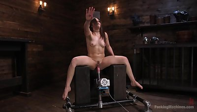 Strong cum and sex machine are the favorite combination for Kimber Woods