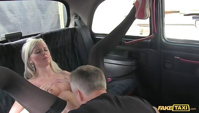 Smoking Hot Tow-haired Can't Help But Inquire For Seconds Be proper of Cabbie's Cock